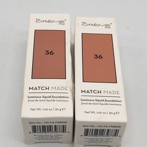 2 - The Creme Shop Match Made Liquid Foundation 36